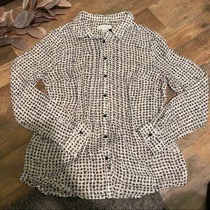 Liz Claiborne Patterned Button-Up
